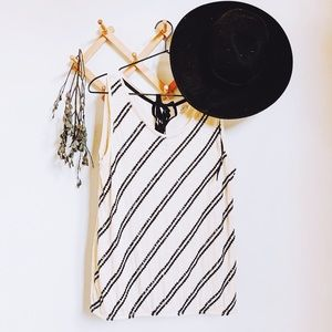 LOFT • sequin tie back sleeveless tank